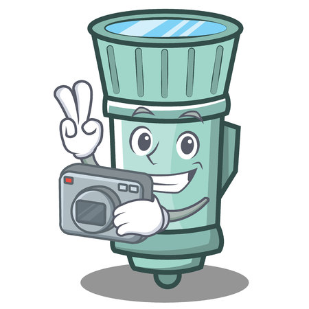 A photography flashlight cartoon character style. Illustration