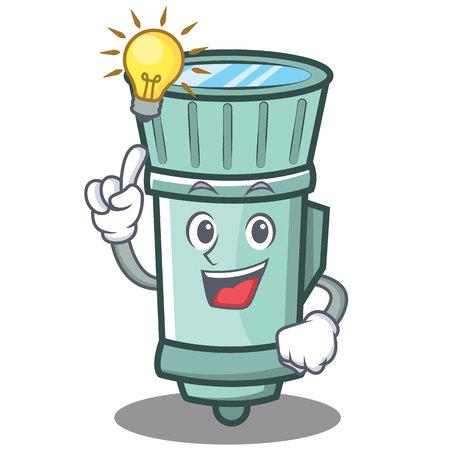 Have an idea flashlight cartoon character style. Illustration