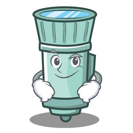 flashlights: Smirking flashlight cartoon character style vector illustration