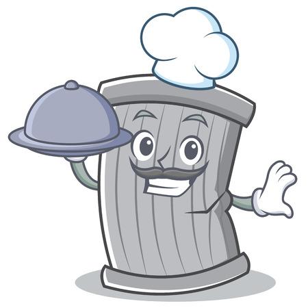 Chef trash character cartoon style vector illsutration