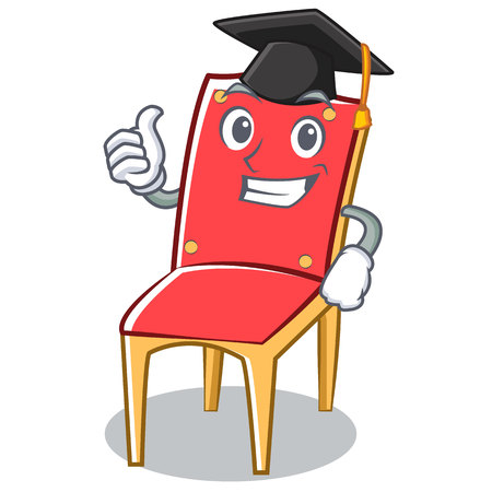 Graduation chair character cartoon collection vector illustration Illustration