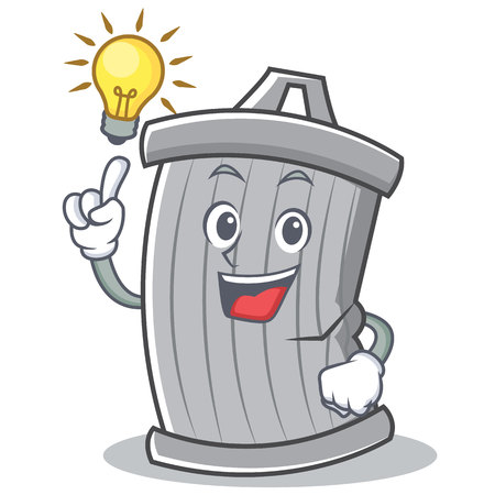 Have an idea trash character cartoon style vector illsutration