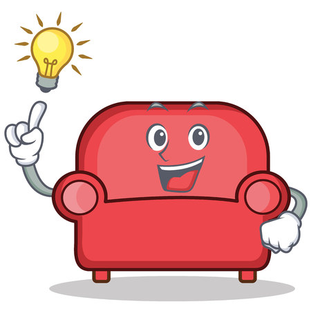 Have an idea red sofa character cartoon.