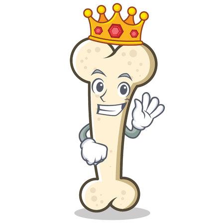 King bone character cartoon mascot.