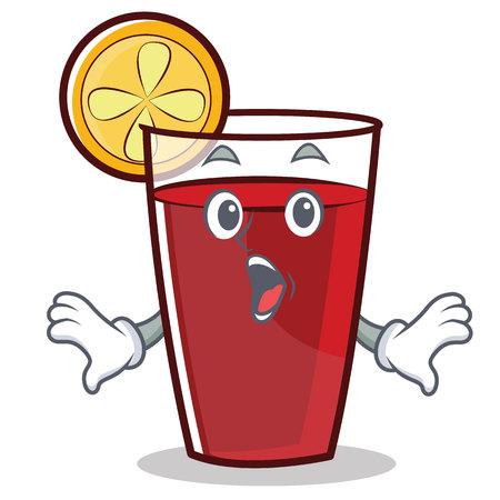 Surprised mulled wine character cartoon vector illustration Illustration