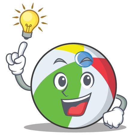 Haben Sie eine Idee Ball Charakter Cartoon-Stil Standard-Bild - 88110382