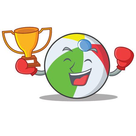 Boxing Ball Charakter Cartoon-Stil Standard-Bild - 88110387