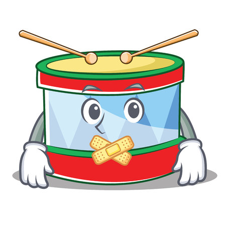 Silent toy drum character cartoon.