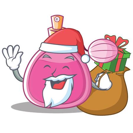 Santa perfume bottle character cartoon