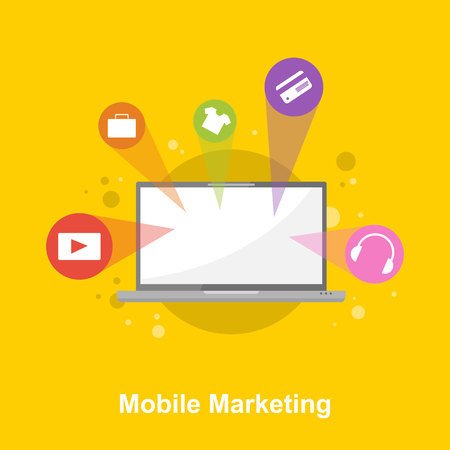 email icon: Design mobile marketing style collection Illustration