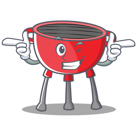 Wink Barbecue Grill Cartoon Character