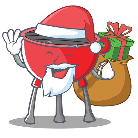 Santa Barbecue Grill Cartoon Character
