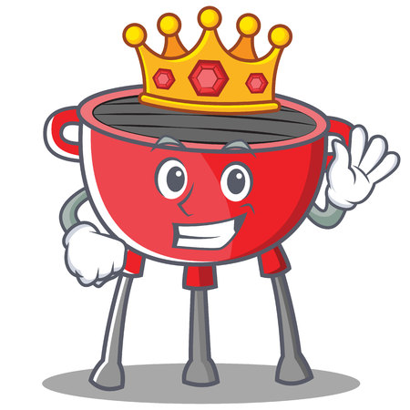 King Barbecue Grill Cartoon Character