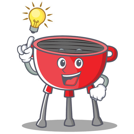 Have An Idea Barbecue Grill Cartoon Character