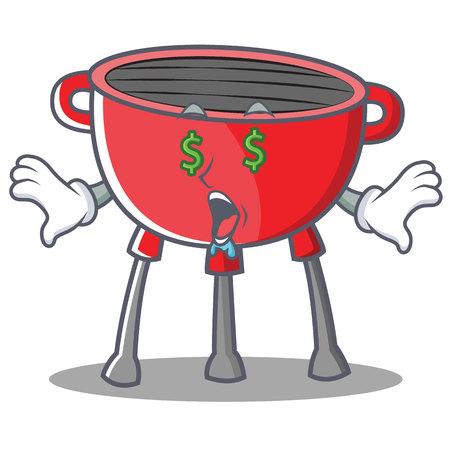 Money Eye Barbecue Grill Cartoon Character