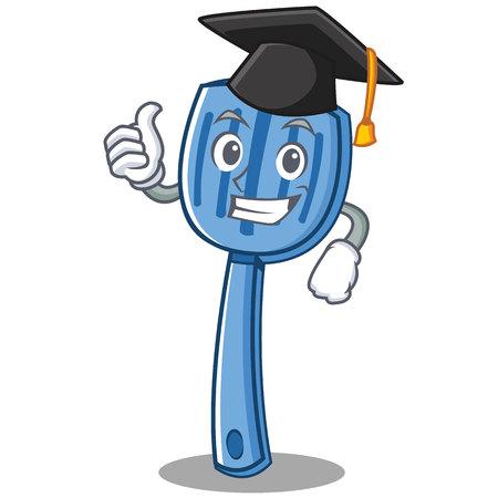 Graduation spatula character cartoon style vector illustration