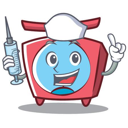 Nurse scale character cartoon style