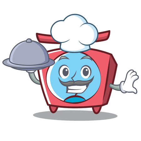 Chef scale character cartoon style