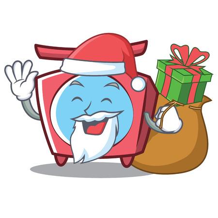 Santa scale cartoon character.
