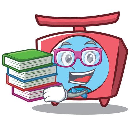 Geek scale cartoon character. Illustration