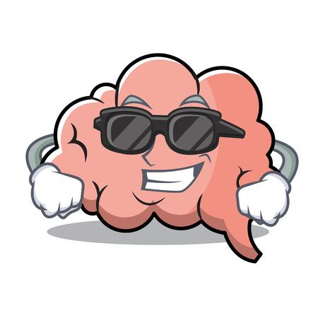 Super cool brain character cartoon mascot vector illustration. Stock Vector - 88312690