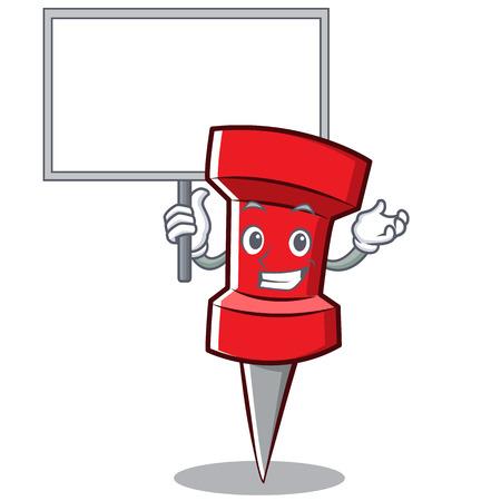 Bring board red pin character cartoon
