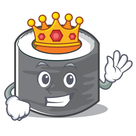 King sushi cartoon character style