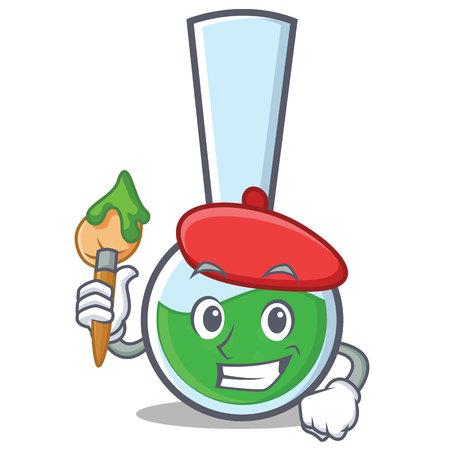 Artist tube laboratory character cartoon