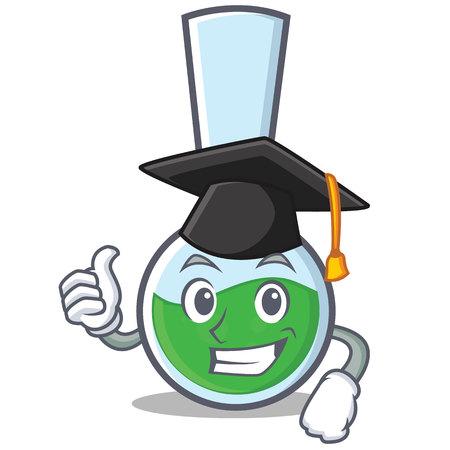 Graduation tube laboratory character cartoon