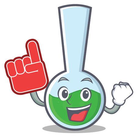 Foam finger tube laboratory character cartoon