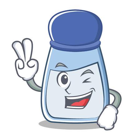 Zwei Finger Salz Charakter Cartoon-Stil