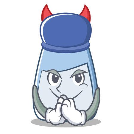 Devil salt character cartoon style