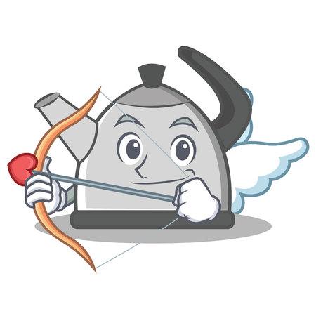 modern kitchen: Cupid kettle character cartoon style