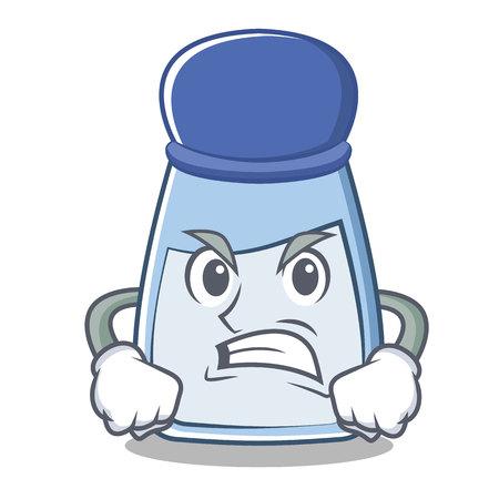 Angry salt cartoon character. Illustration