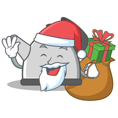 Santa kettle cartoon character.