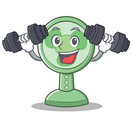 Fitness fan character cartoon style vector illustration.