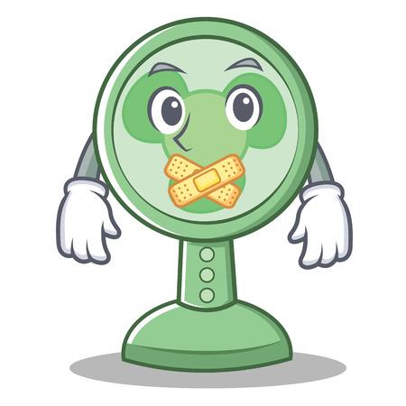 Silent fan character cartoon style vector illustration Illustration
