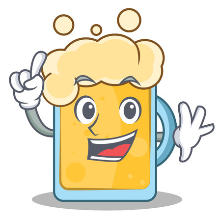 Finger beer character cartoon style