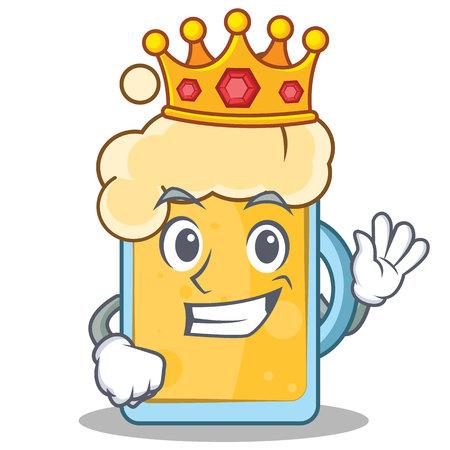 King beer character cartoon style