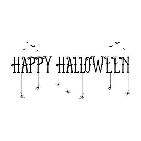 happy halloween template for banner vector illustration stock vector 88416209