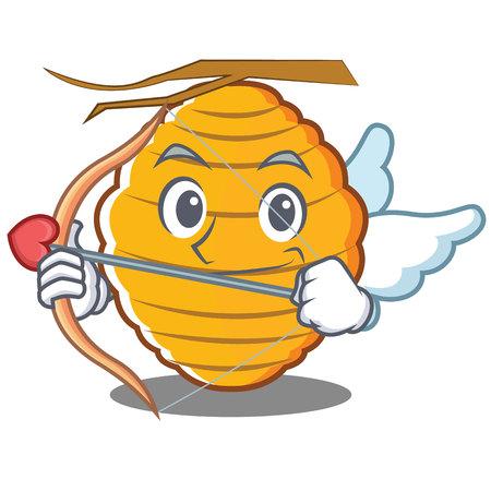 Cupid bee hive character cartoon vector illustration Illustration