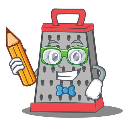 Illustrazione di vettore del fumetto del carattere della grattugia della cucina dello studente Vettoriali