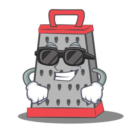 Super cool kitchen grater character cartoon vector illustration
