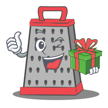 With gift kitchen grater character cartoon