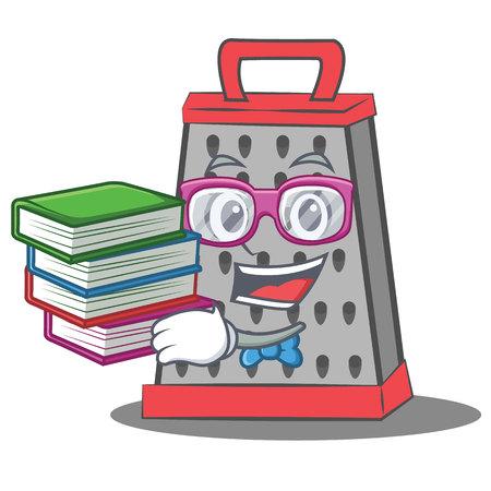 Geek kitchen grater character cartoon Stock Photo
