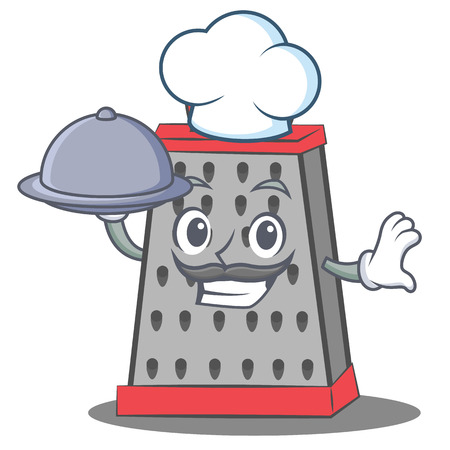 Chef kitchen grater character cartoon