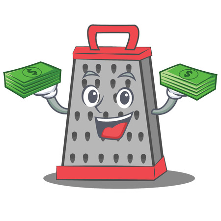 With money kitchen grater character cartoon Stock Photo