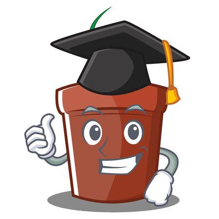 Graduation flower pot character cartoon