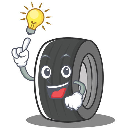 Have an idea tire character cartoon style