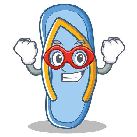 Super hero flip flops character cartoon